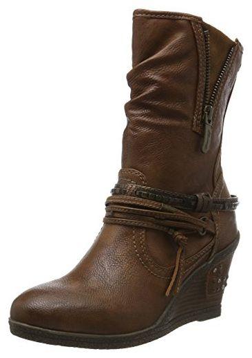 Mustang Damen 1083 508 Combat Boots, Braun (301 Kastanie