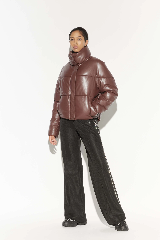 Jemma Burgundy I Faux Leather Puffer Jacket Apparis Leather Puffer Jacket Street Style Fall Outfits Style Inspiration Street [ 1500 x 1000 Pixel ]