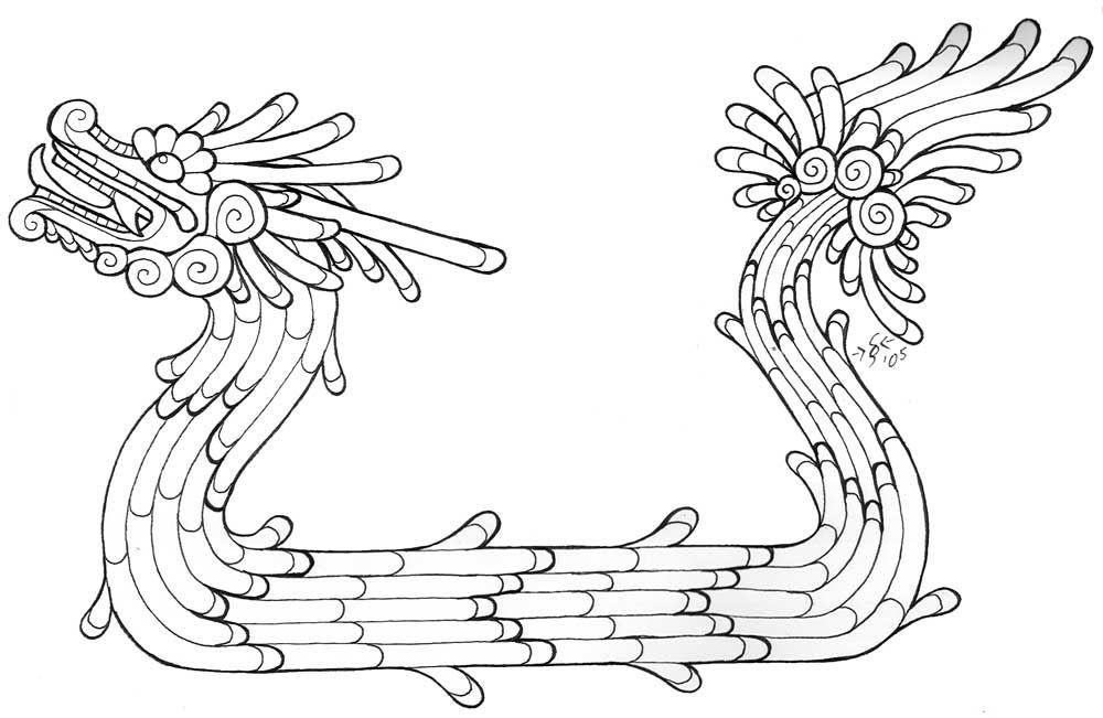 Stylized_Quetzalcoatl_Lineart_by_Heatherbeast.jpg (1000×651 ...
