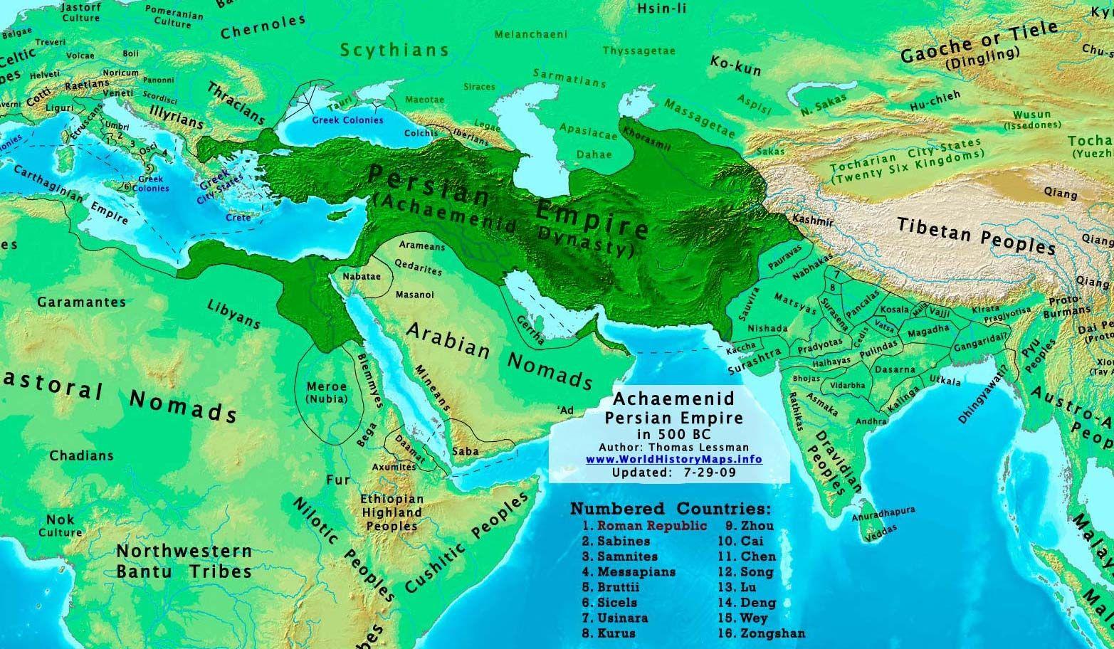 De Pers Achaemenid İmparatorluğu Haritalar Pinterest - Map of egypt 500 bc