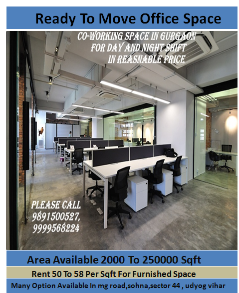 Office Space On Rent Please Call 9891500527 9999568224 Modern Office Design Cool Office Modern Home Office