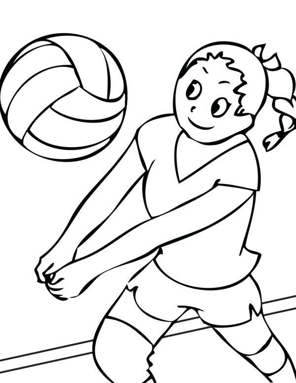 voleibol para colorear nina jugando al voleibol dibujo de cancha de ...