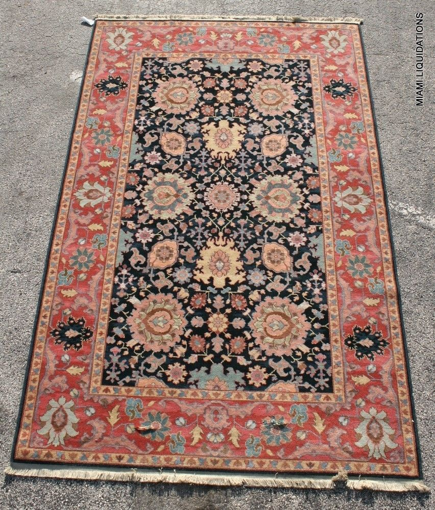 New Brand Devlin Persian Rug Handmade 100 Wool Area Rugs: WIlliamsburg Karastan Rectangular Rug 100% Worsted Wool
