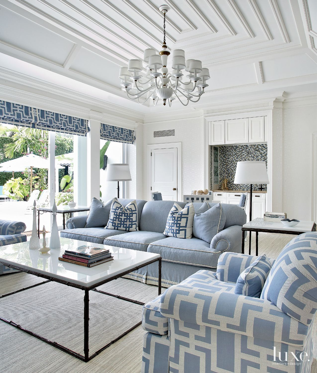 Living Room Blue And White Interior Design Home Interior Design,Kitchen Floor Plan Design