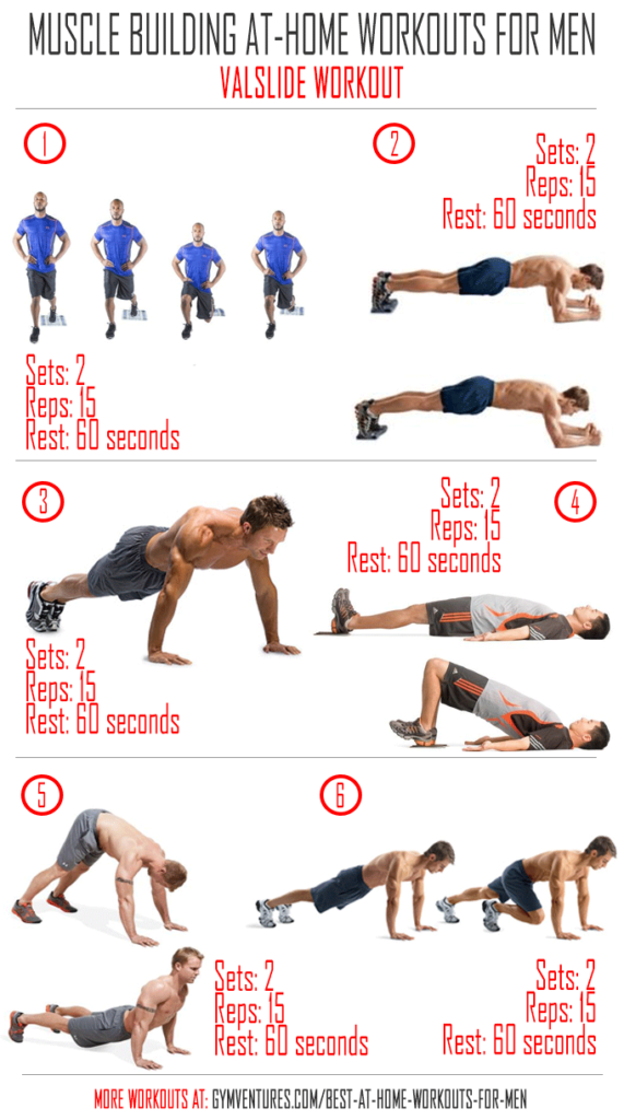 At Home Workouts For Men 10 Muscle Building Workouts Home Workout Men Workout Plan For Men Workout Plan