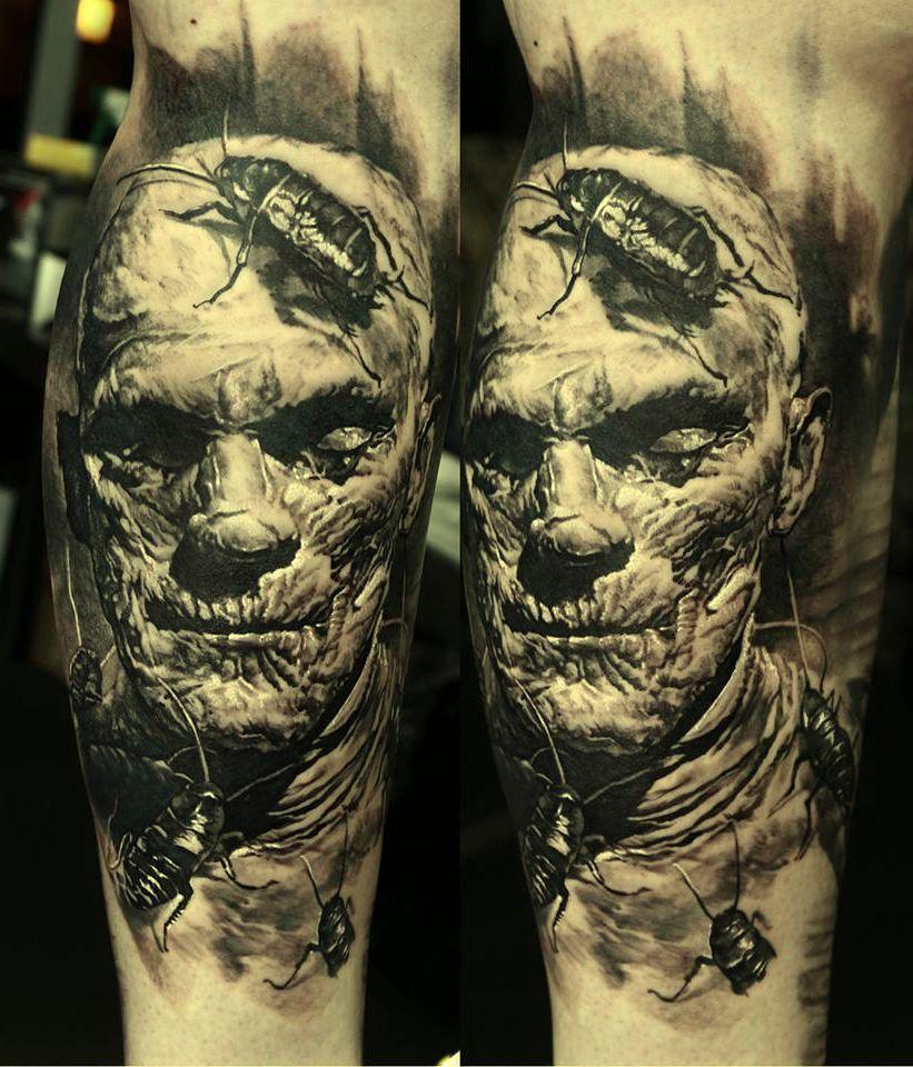 Pin By M T On Oko Zombie Tattoos Horror Tattoo Creepy Tattoos