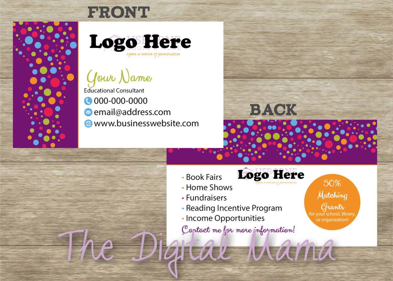 Usborne Books and More Consultant Business Card Design - Usborne ...