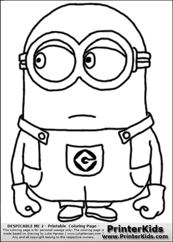 Despicable Me Minions Coloring Pages In Color