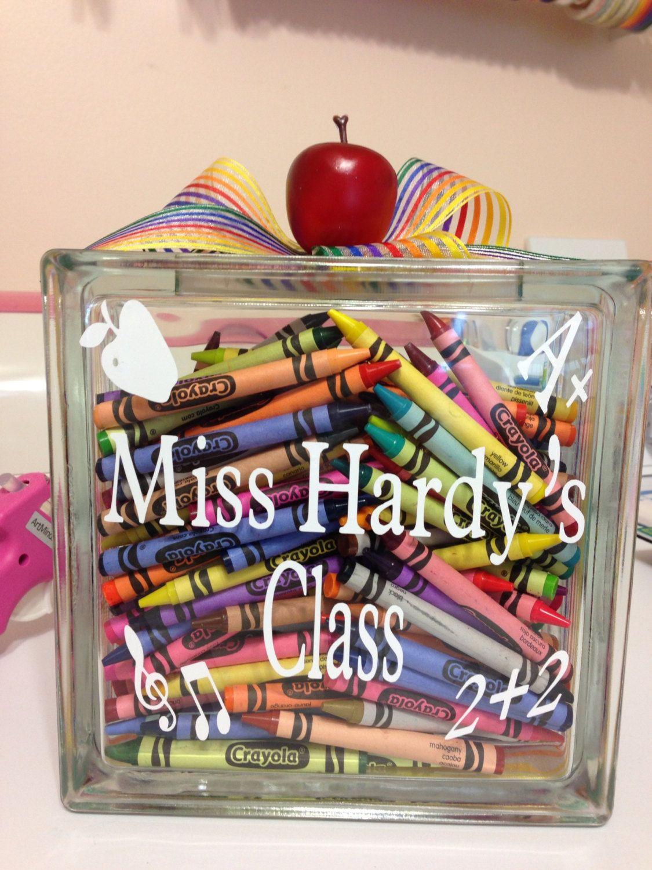 Decorative glass blocks crafts - Personalized Teacher Glass Block