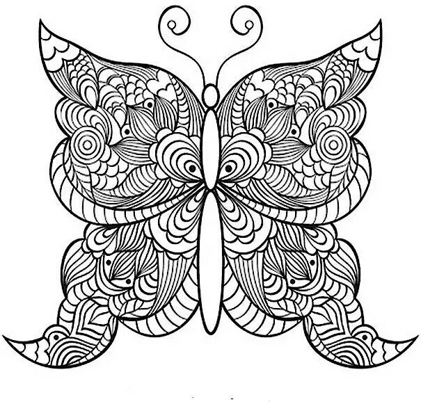 Butterfly Mandala To Color Butterfly Coloring Page Coloring Pages Mandala Coloring Pages