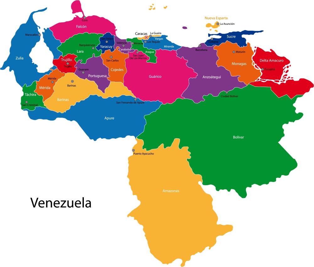 Venezuela Map Venezuela Outline