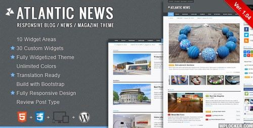 Download Atlantic News - Responsive Wordpress Magazine Blog Theme ...