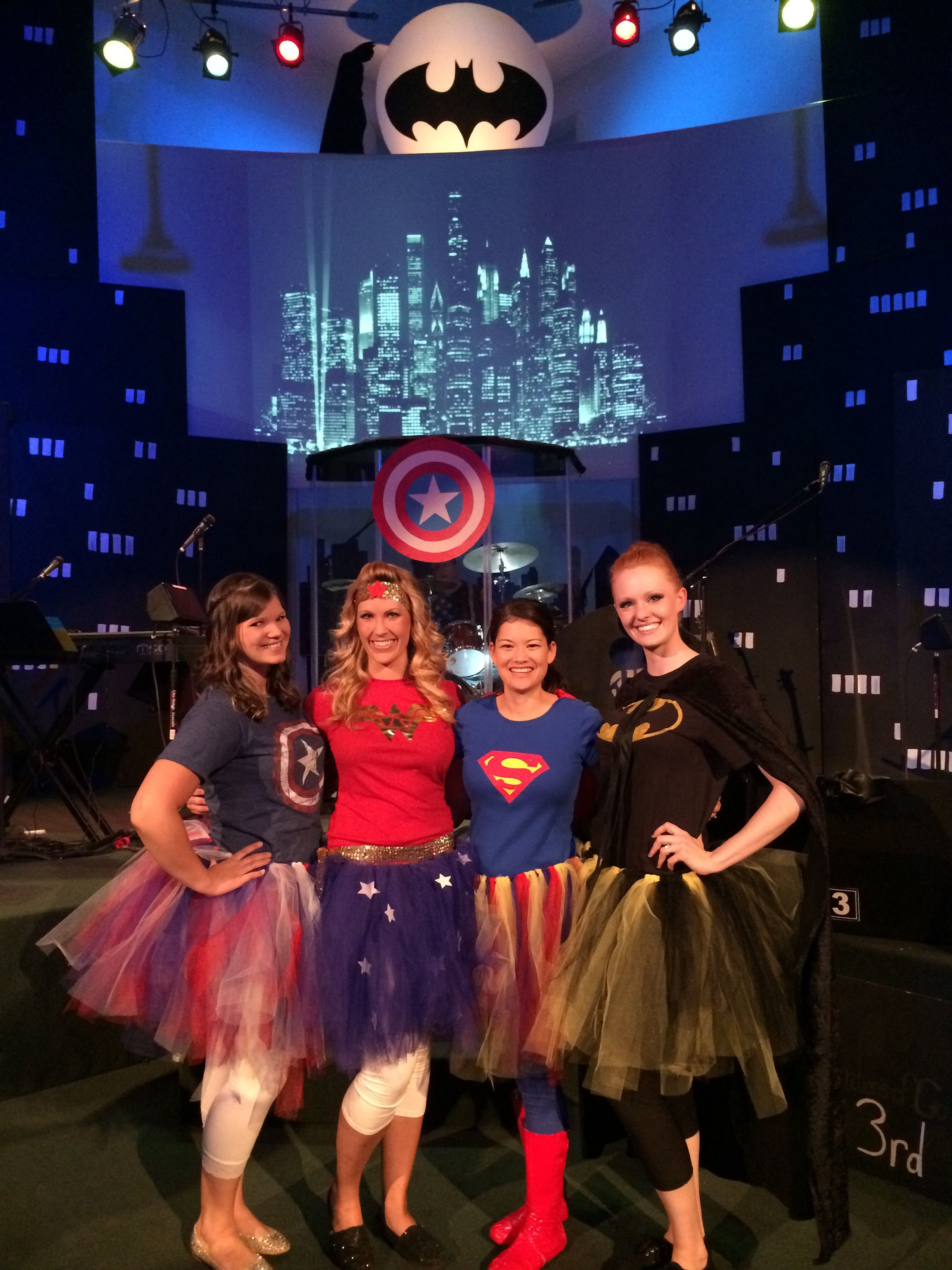 Superhero costume for girls or women. Superhero tutus
