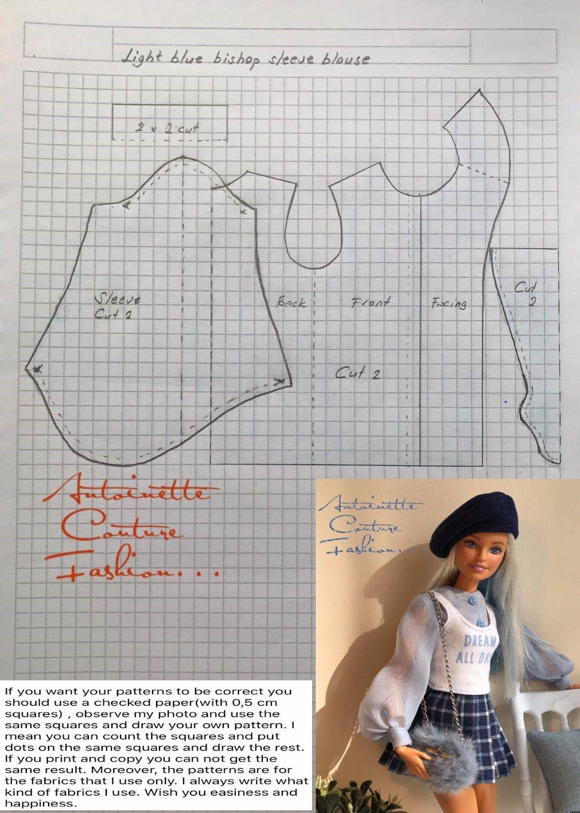Fashion Dolls Couture - Unlimited #dolldresspatterns