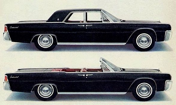 '1963 lincoln continental' - the car which became an icon after the  shooting of jfk, but probably would have become one regardless