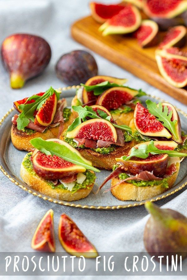 Prosciutto Fig Crostini Recipe - Appetizer Addiction