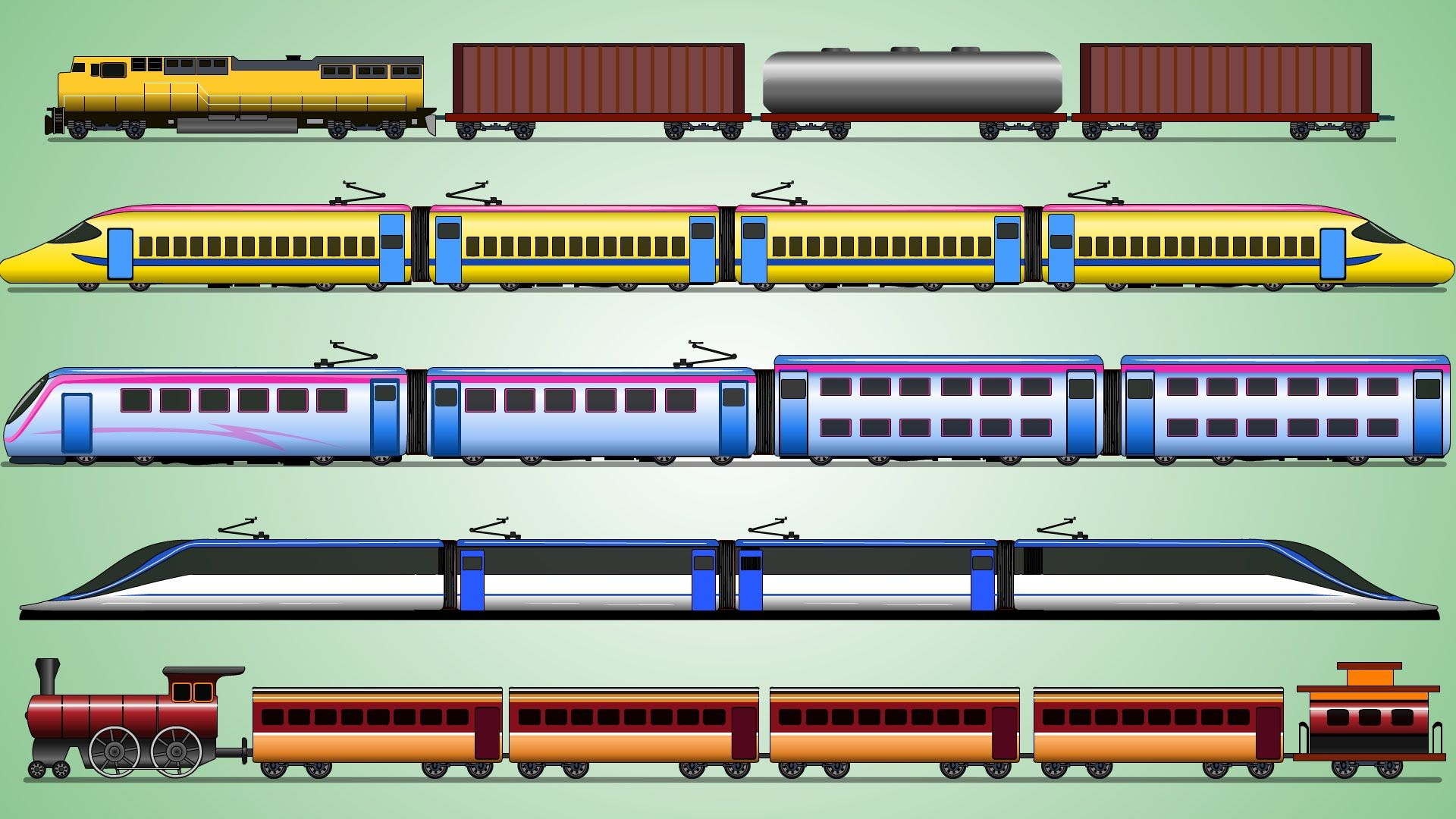 Learning Train Freight Train Railway Vehicles For Kids My