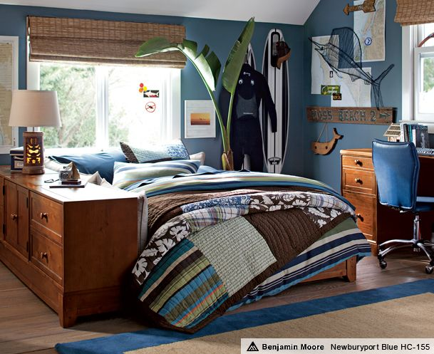 Brown and blue bedrooms oceanside ultimate bedroom pbteen for the home pinterest blue - Cool and stylish room boys ...
