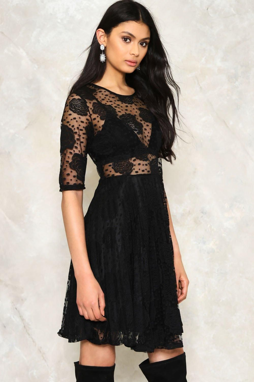 Lace dress rose  Rose to Fame Lace Dress  Lace Flare and The oujays