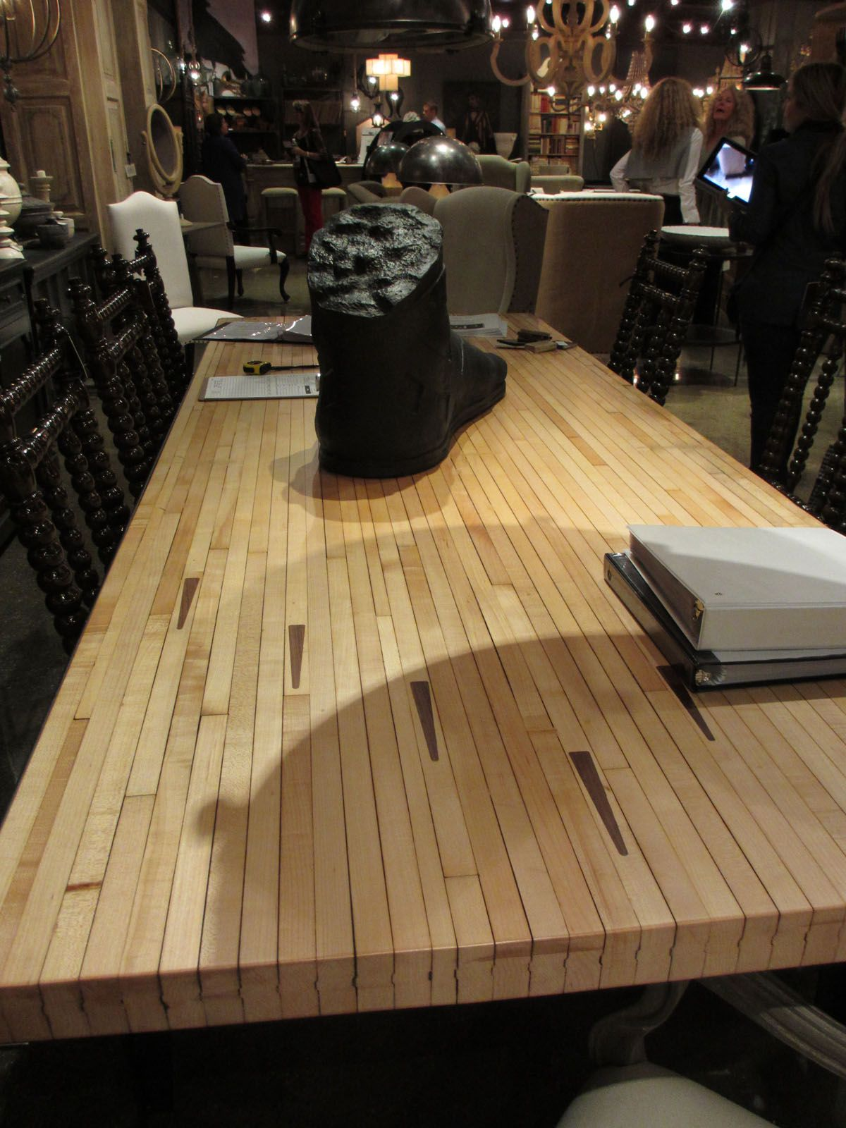 Bowling Alley Floor Table Top Noir Hpmkt High Point