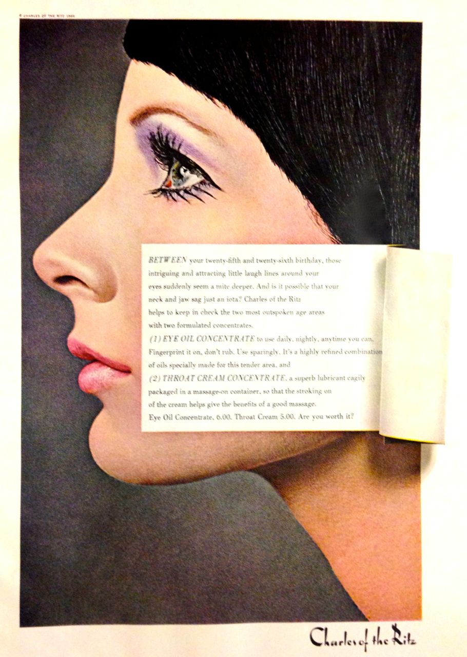 Charles Of The Ritz Skin Care Ad 1966 Charles Of The Ritz Vintage Cosmetics Vintage Makeup