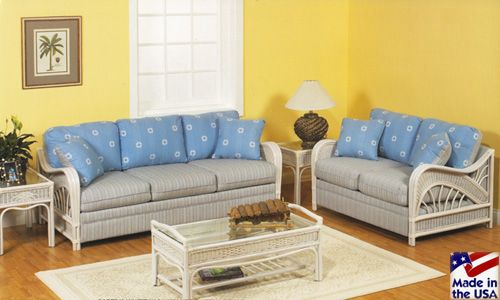 Captiva Whitewash Sunroom Set And Individual Pieces By Stanley Chair Wicker Living Room