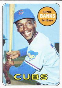 Image result for ernie banks 1969 topps image
