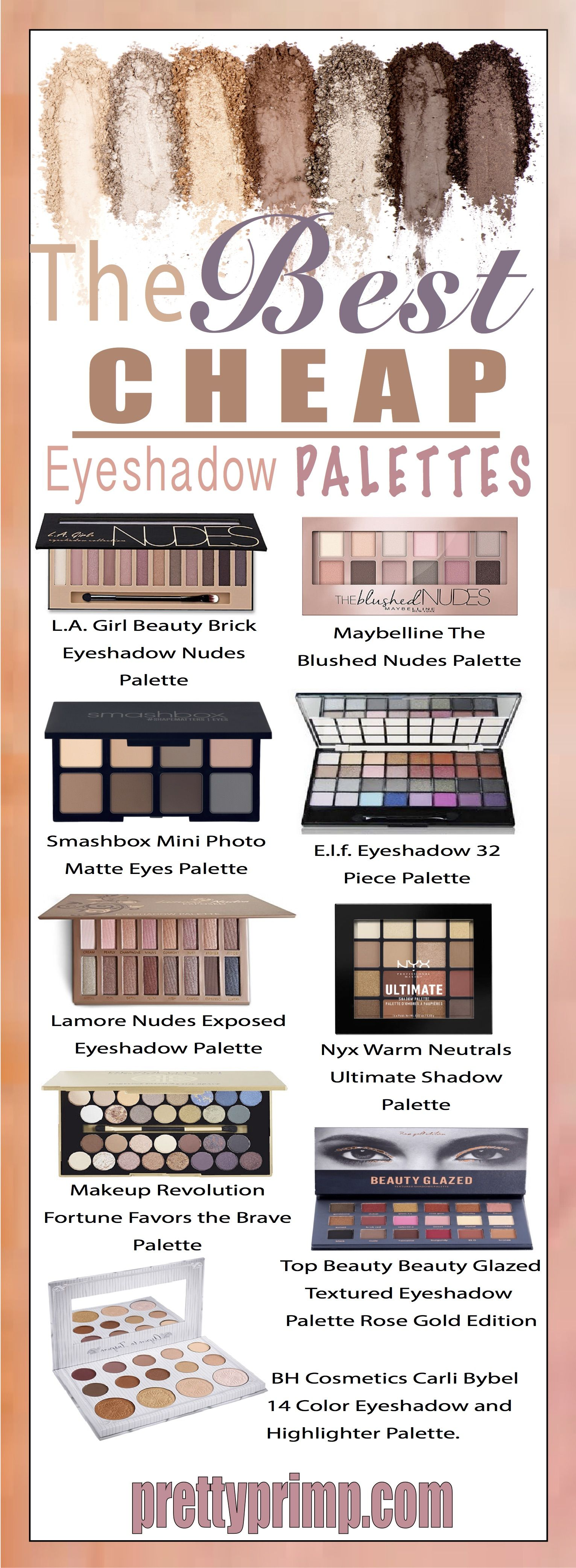 24 Best Cheap But Good Eyeshadow Palettes You NEED in Your
