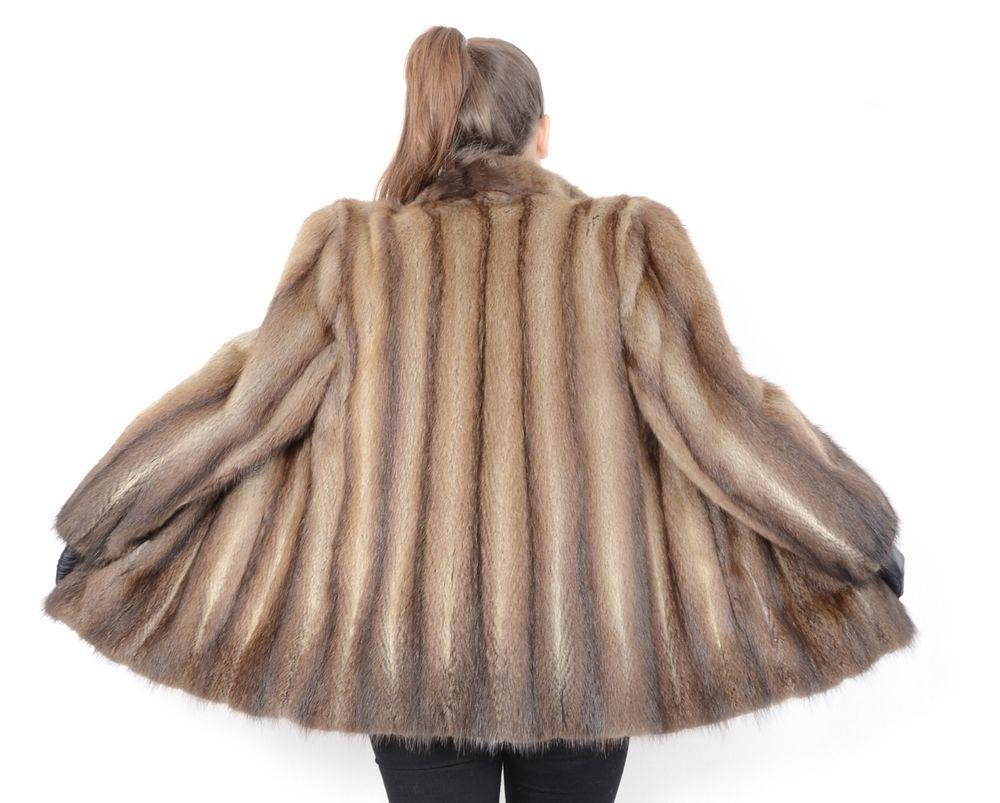 Us500 Softy Modern Muskrat Fur Jacket Musquash Coat Size L Class Of Mink Fashion Clothing Shoes Accessories Womensclothing Coa Coat Jackets Fur Jacket [ 803 x 1000 Pixel ]