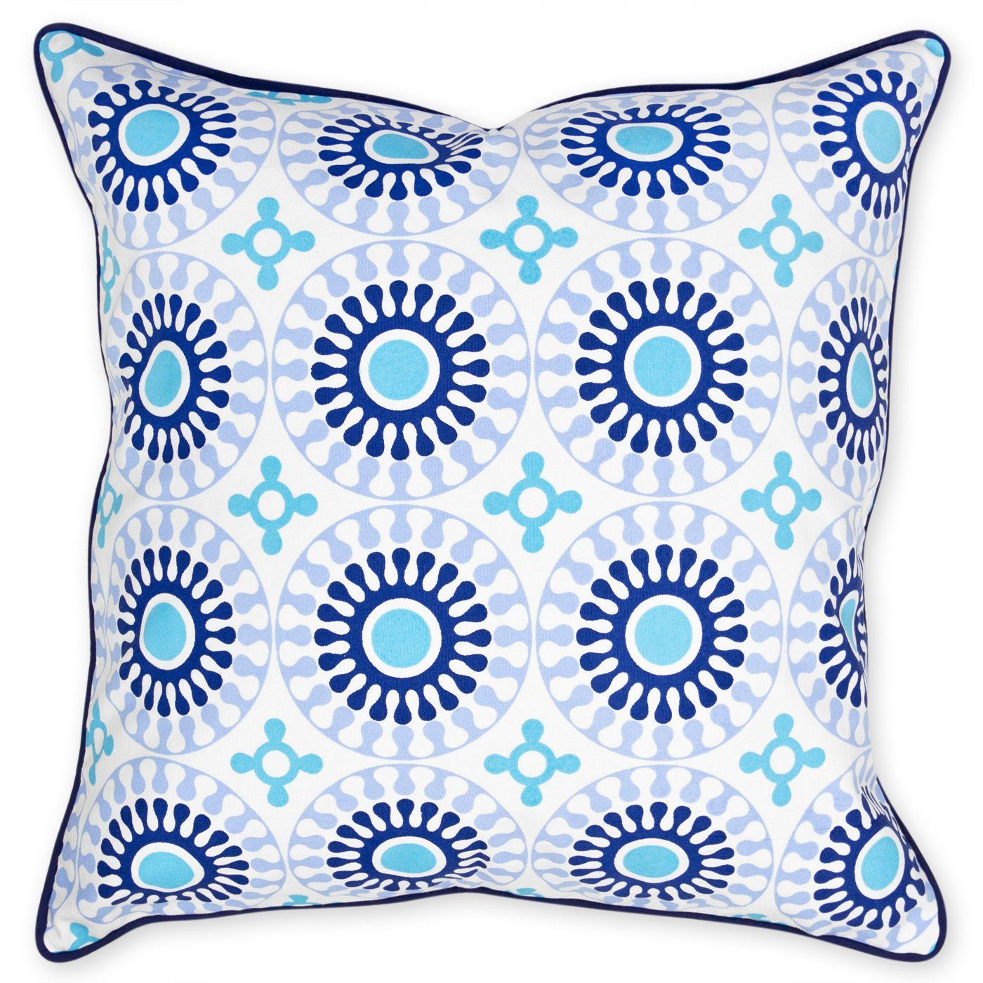 Modern throw pillows bobo medallion printed canvas pillow