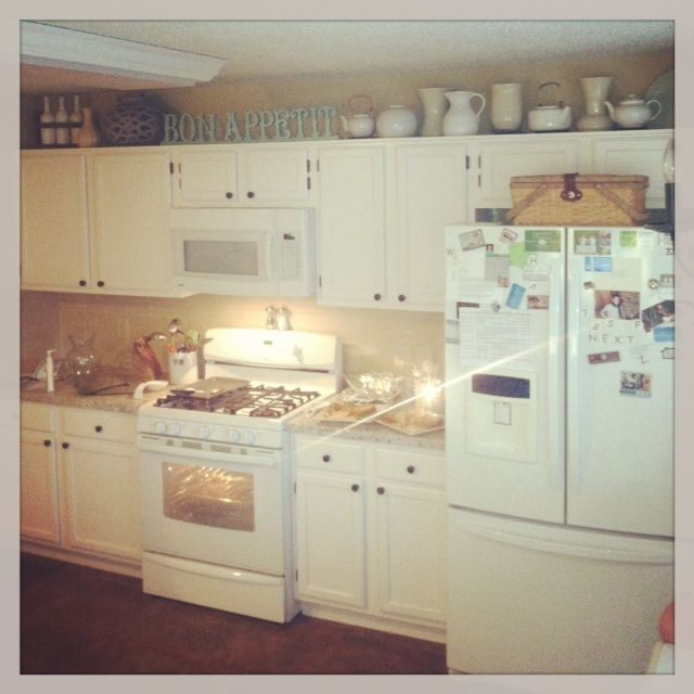 Decorations For Above Kitchen Cabinets: Decorating Above The Kitchen Cabinets- Budget Friendly