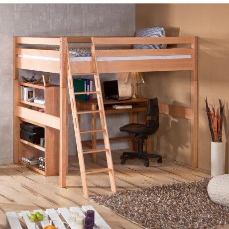 Solution Id Ale Pour Les Chambres De Petites Tailles Le Lit Mezzanine 140cm Vous Permettra D