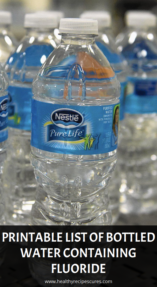 Printable List of Bottled Water Containing Fluoride | Health