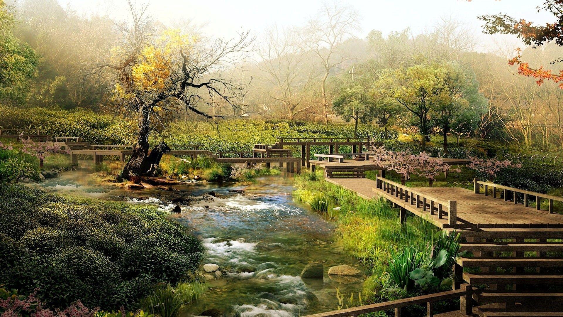 extravagant japanese zen garden wallpaper on garden design with