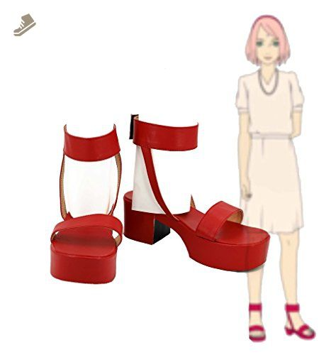 NARUTO Anime Haruno Sakura Shoes for Dress Sandals Cosplay Boots Custom Made