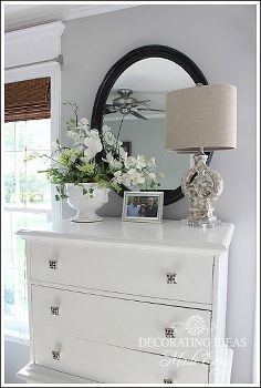 beach bedroom makeover, bedroom ideas, design d cor, I painted my dresser white and added some beach themed accessories