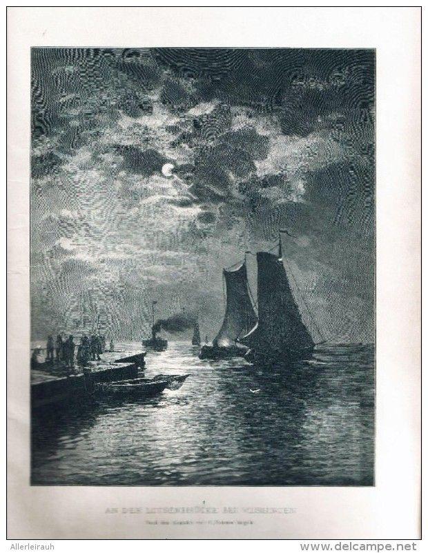 """An der Louisenbrücke   -  Druck , entnommen aus """"die Gartenlaube"""", 1897"""