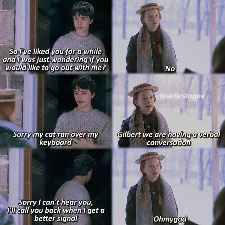 Love Their Parallel Towards Each Other Gilbert And Anne