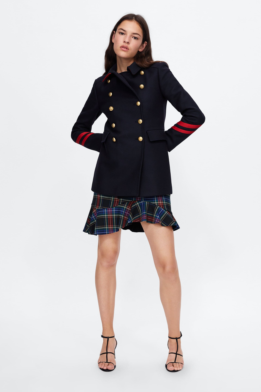 fotos oficiales 12b59 f59b2 ABRIGO CORTO CINTAS | Outfits | Coat, Coats for women, Zara