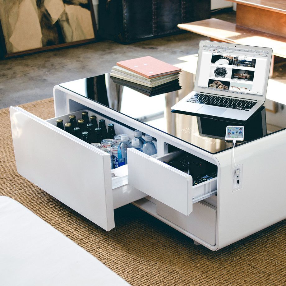 Sobro Smart Refrigerator Tables Touch Of Modern Coffee Table With Storage Coffee Table Design Coffee Table