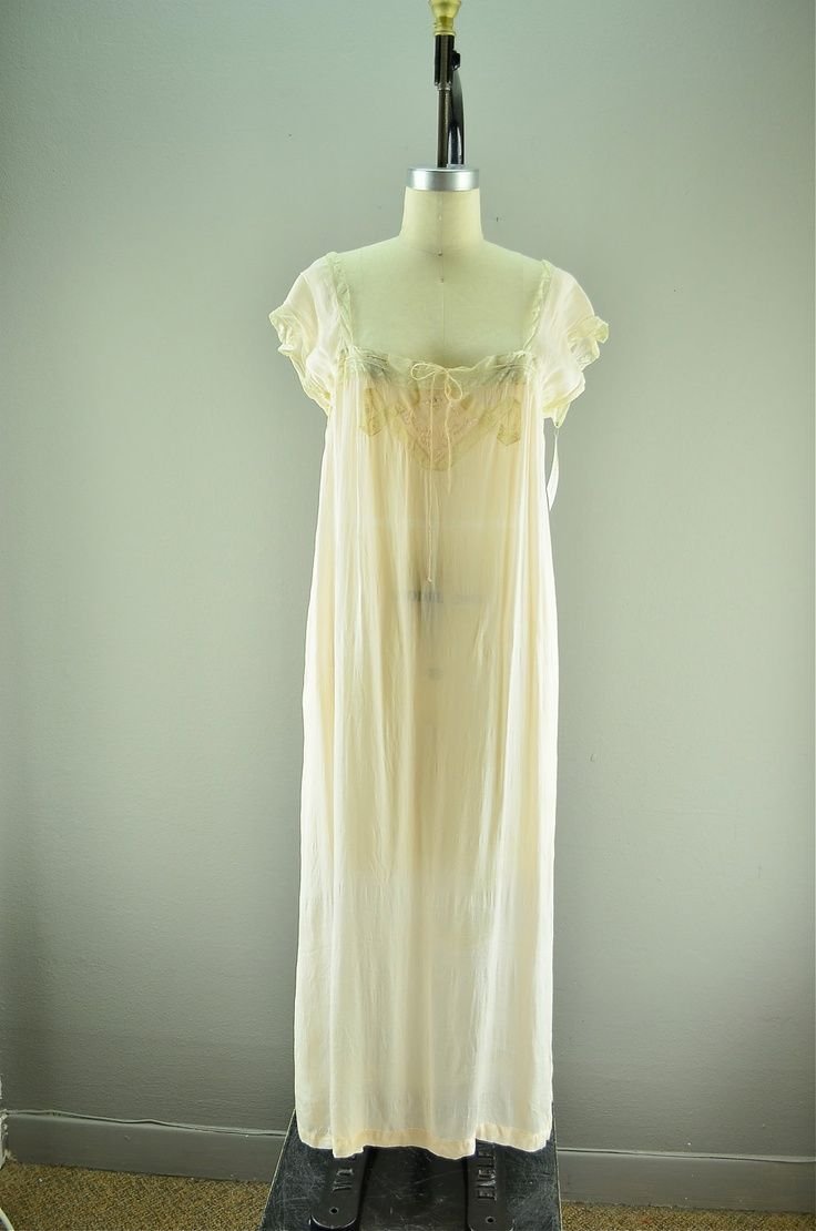 Nightgown Silk Lingerie | 1920s silk nightgown | Clothing Lingerie ...