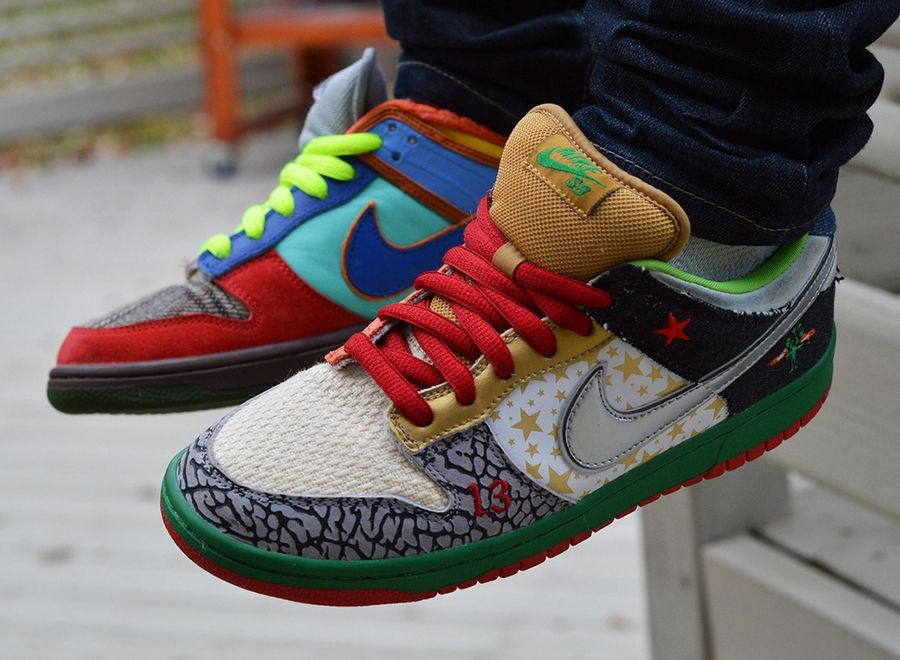 pretty nice d8781 8db9b what the dunk nike sb The First Nike What The Sneaker