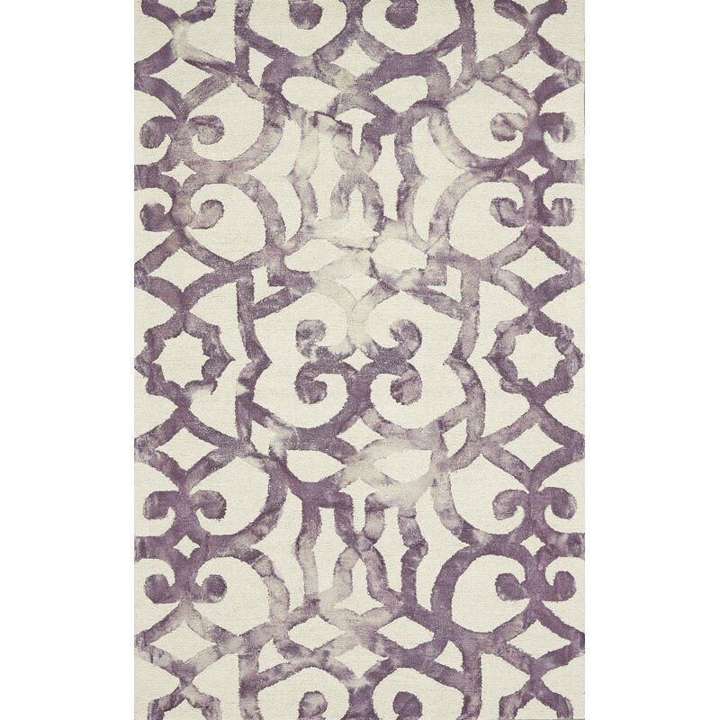 Frederick Abstract Handmade Tufted Wool Violet Area Rug In 2020 Wool Area Rugs Purple Area Rugs Area Rugs
