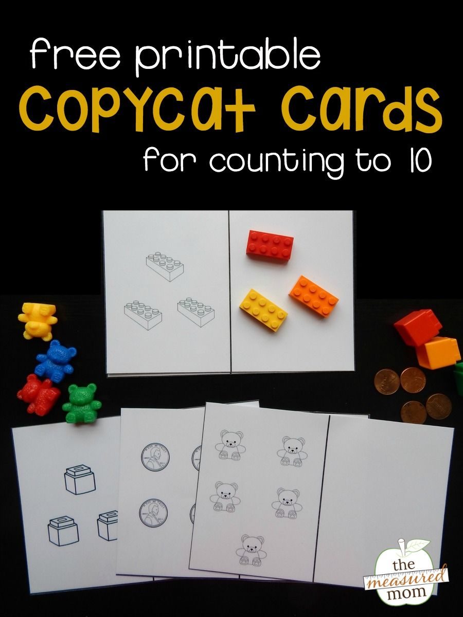 photo regarding Preschool Math Games Printable called Prepare counting with our absolutely free copycat playing cards Discovering