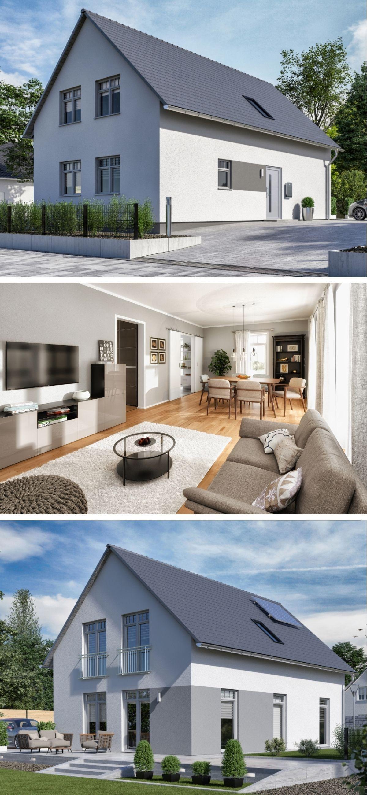 Modernes einfamilienhaus design klassisch mit satteldach for Einfamilienhaus klassisch