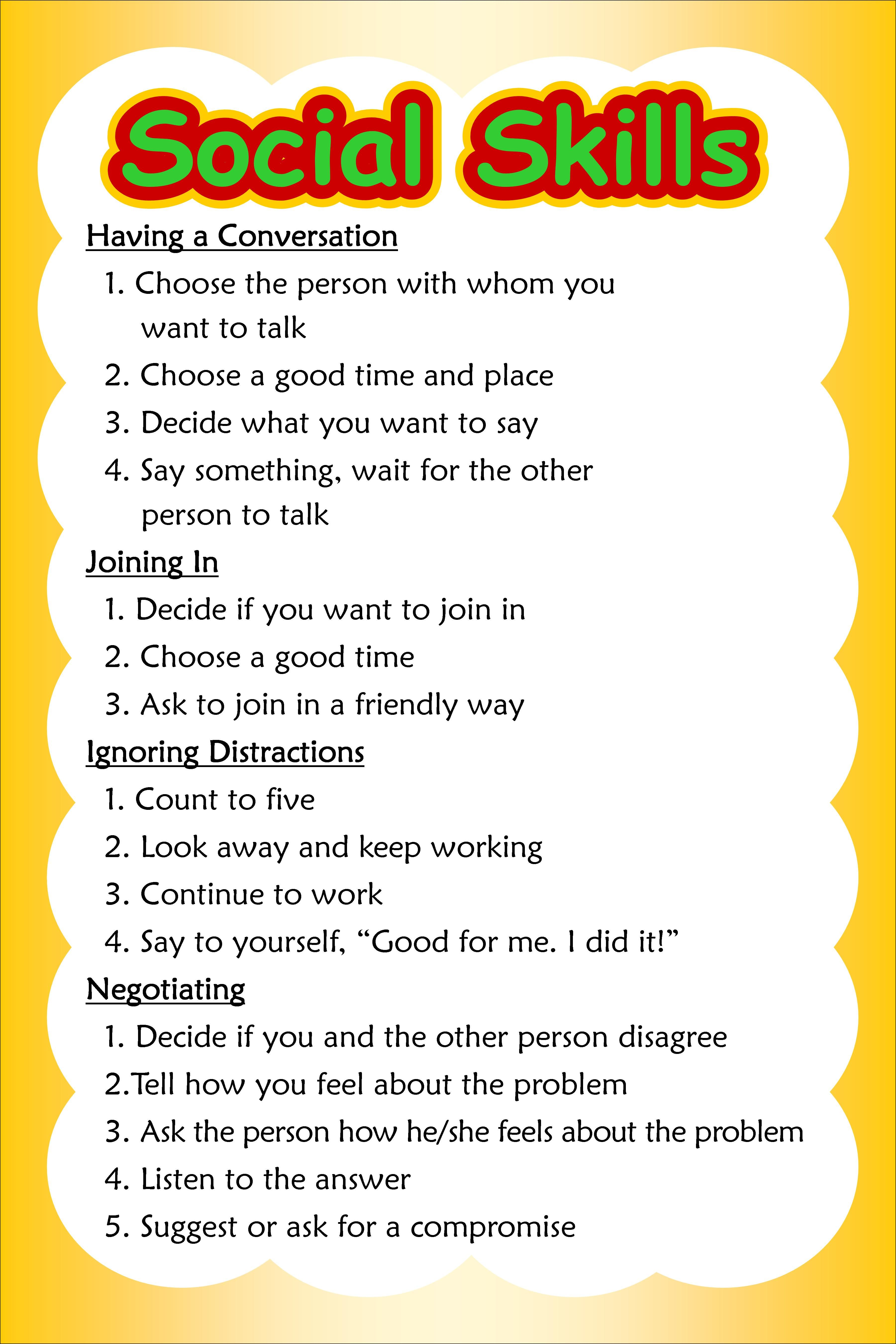 1000+ images about Social skills stuff on Pinterest | Social ...