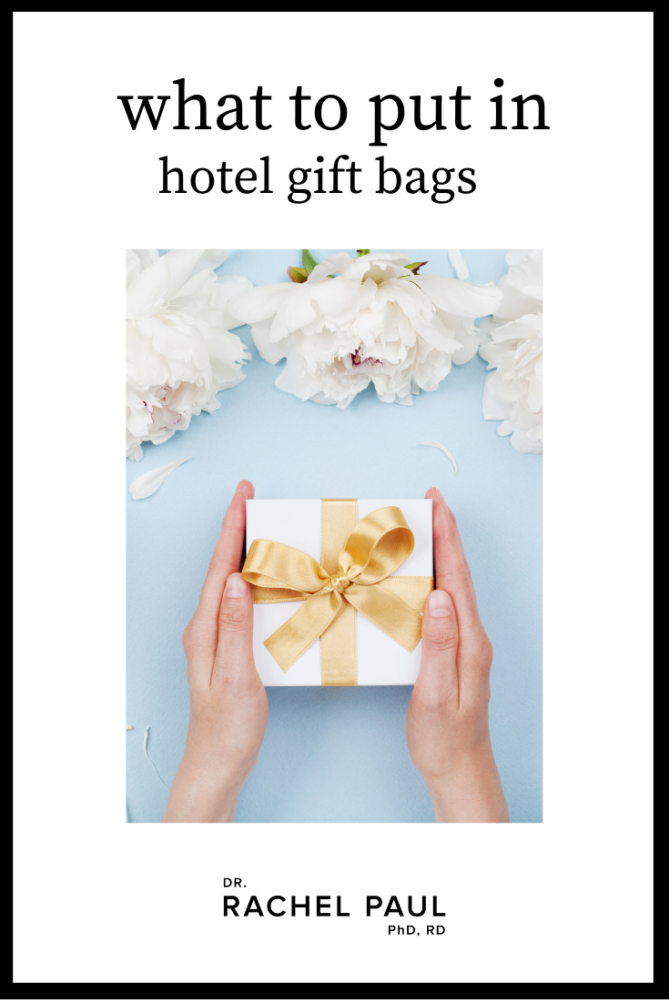 Wedding gift bags are such a thoughtful idea. It's a great way to welcome guests who may have traveled near or far just for your wedding day or wedding weekend (these can work for both in town and out of town guests), picked out a stylish outfit, bought gifts, and made an effort to come to your big day and see you and your loved one get married.