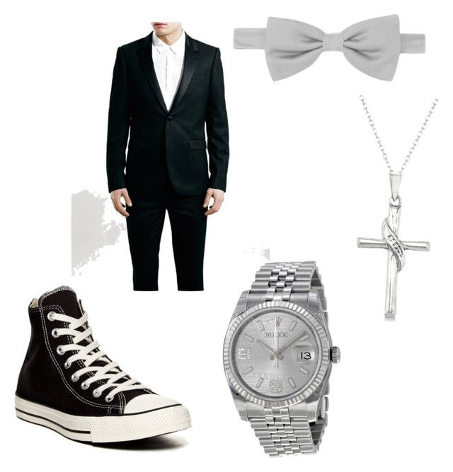 """""""Silver prom proposal (your date!)"""" by tori-arlukiewicz ❤ liked on Polyvore featuring Converse, Forzieri, Rolex and Allurez"""