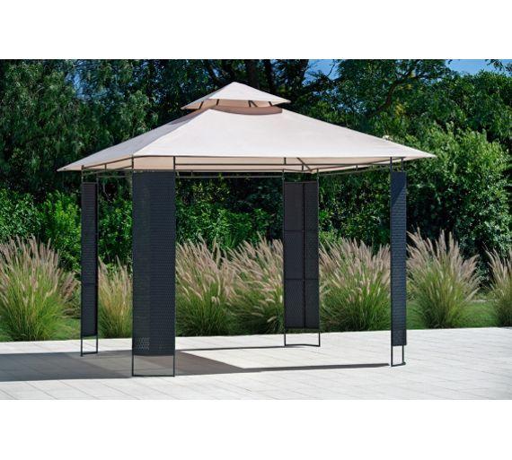 Buy The Collection Rattan Effect Square Garden Gazebo at Argos