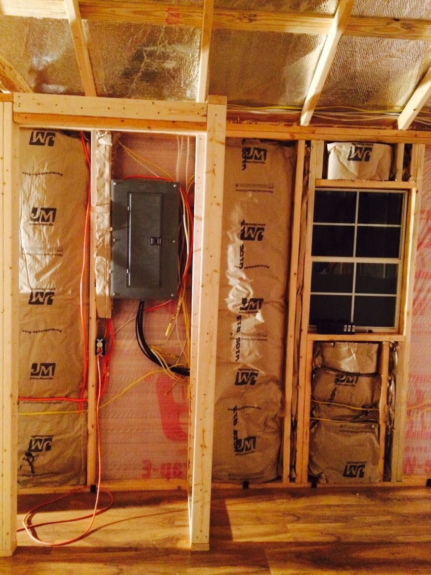 Forgot about the electrical wiring. We ran all the wiring inside the ...